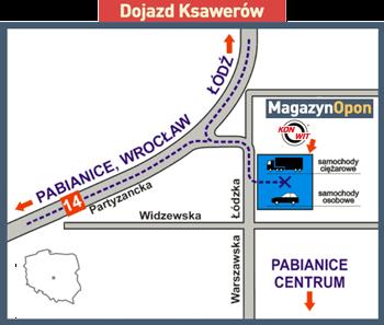 MagazynOpon Ksawerów dojazd